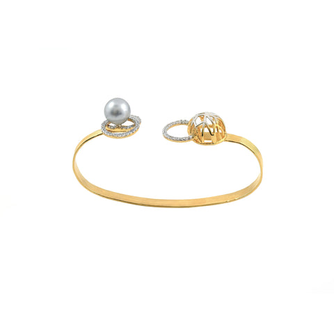 Rema Luxe - Gold Brass Metal Wobbly Wonders Palm Band
