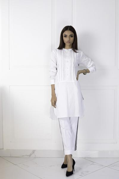 Shehrnaz - White Cotton Capri Clearance Sale