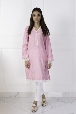 Shehrnaz - Pink Cotton Shirt