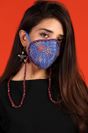 Huma Adnan - Sea Breeze Batik Print Mask