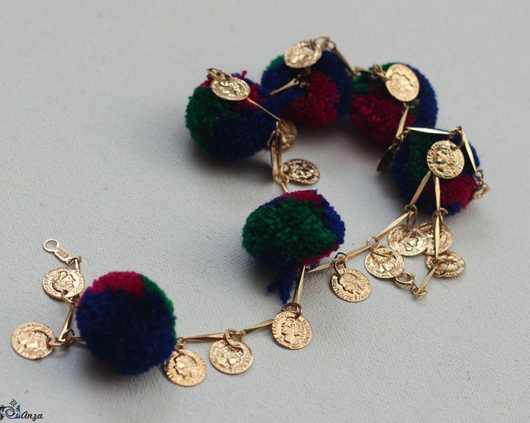 Chapter 13 - Multi Pom Pom Anklet