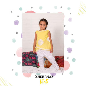 Shehrnaz - Yellow Overlap Shirt