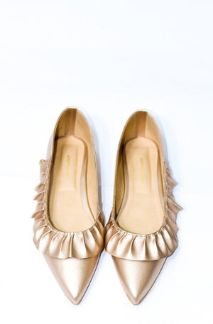 Step Up by JootiShooti - Frilly Rose Gold Pumps (Limited Edition)