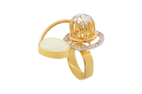 Rema Luxe - Gold Brass Metal Luzia Ring
