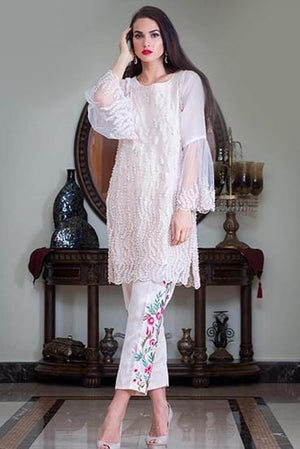 Ethnic by Farhat Khan - Lady In Beige