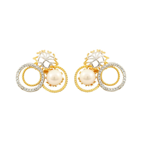 Rema Luxe - Gold Brass Metal Shades Ear Stud