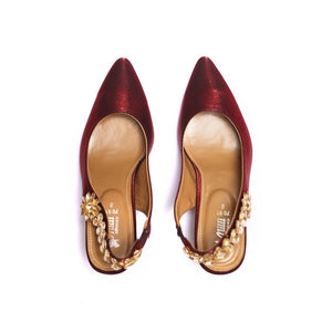 Milli Shoes - Maroon Sandals - 7813