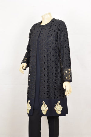 Wov - Blue Cutwork Onyx - 1 PC