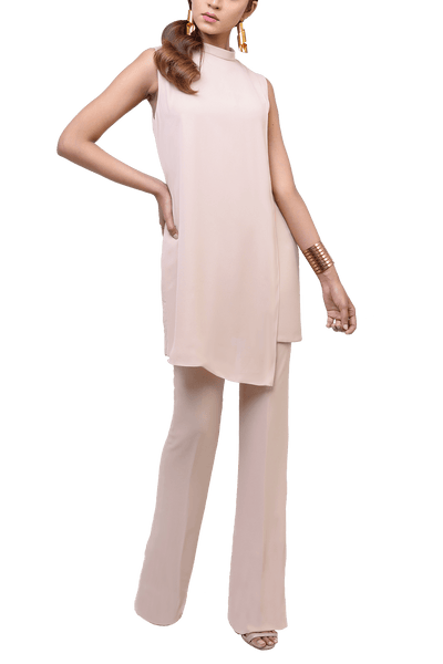 Natasha Kamal -  Sandi Georgette Tunic With Lining & Georgette Trousers