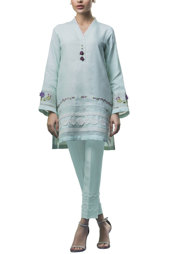 Sania Maskatiya - Linen Embroidered Shirt