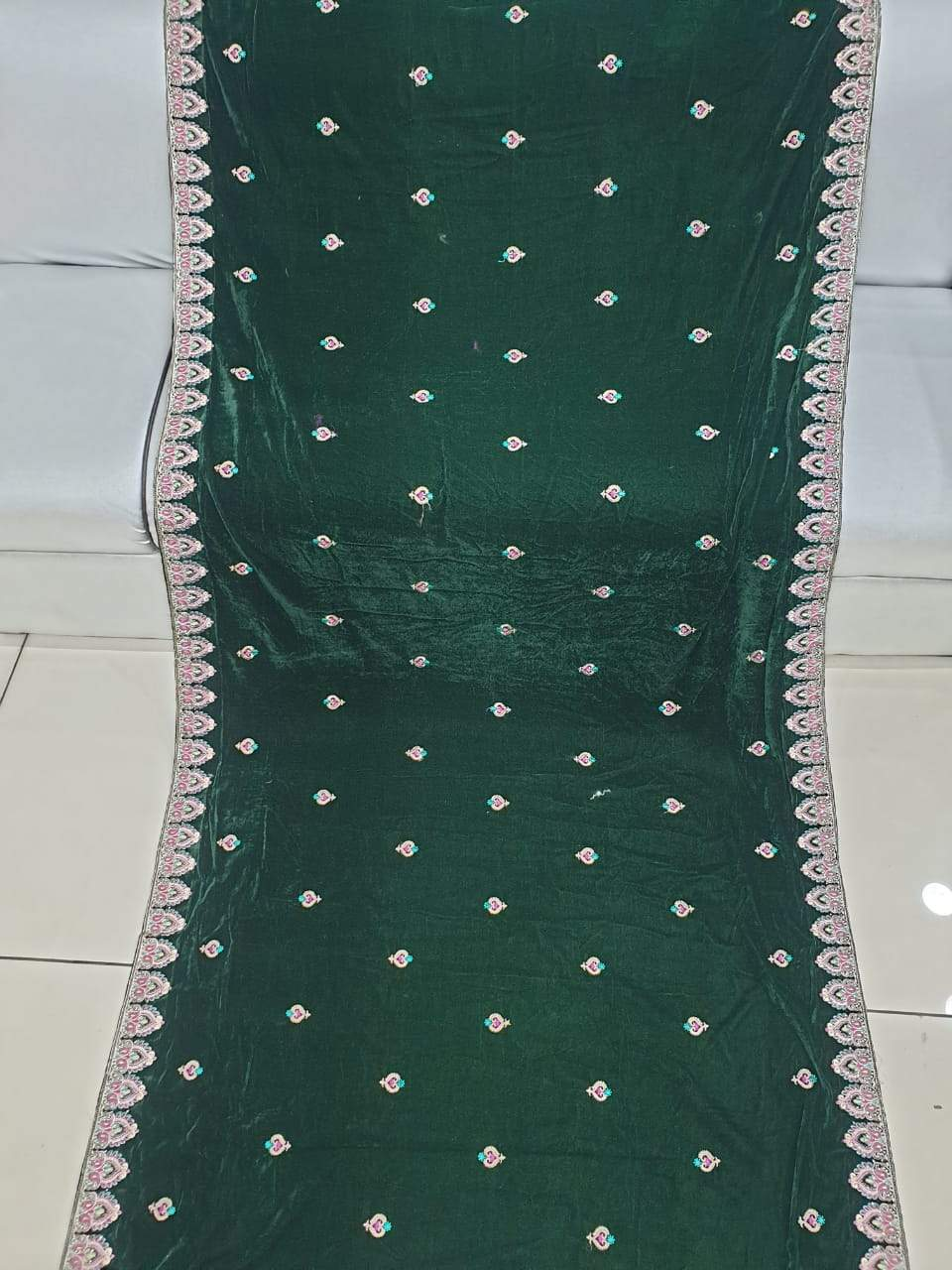 Design By Amina Velvet Shawls With Hand Embroidery Studio By Tcs