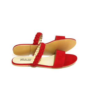 Mochi Cordwainers - Red Troy Slippers