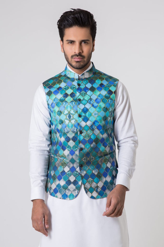Bonanza Satrangi - Blue Men's Waist Coat