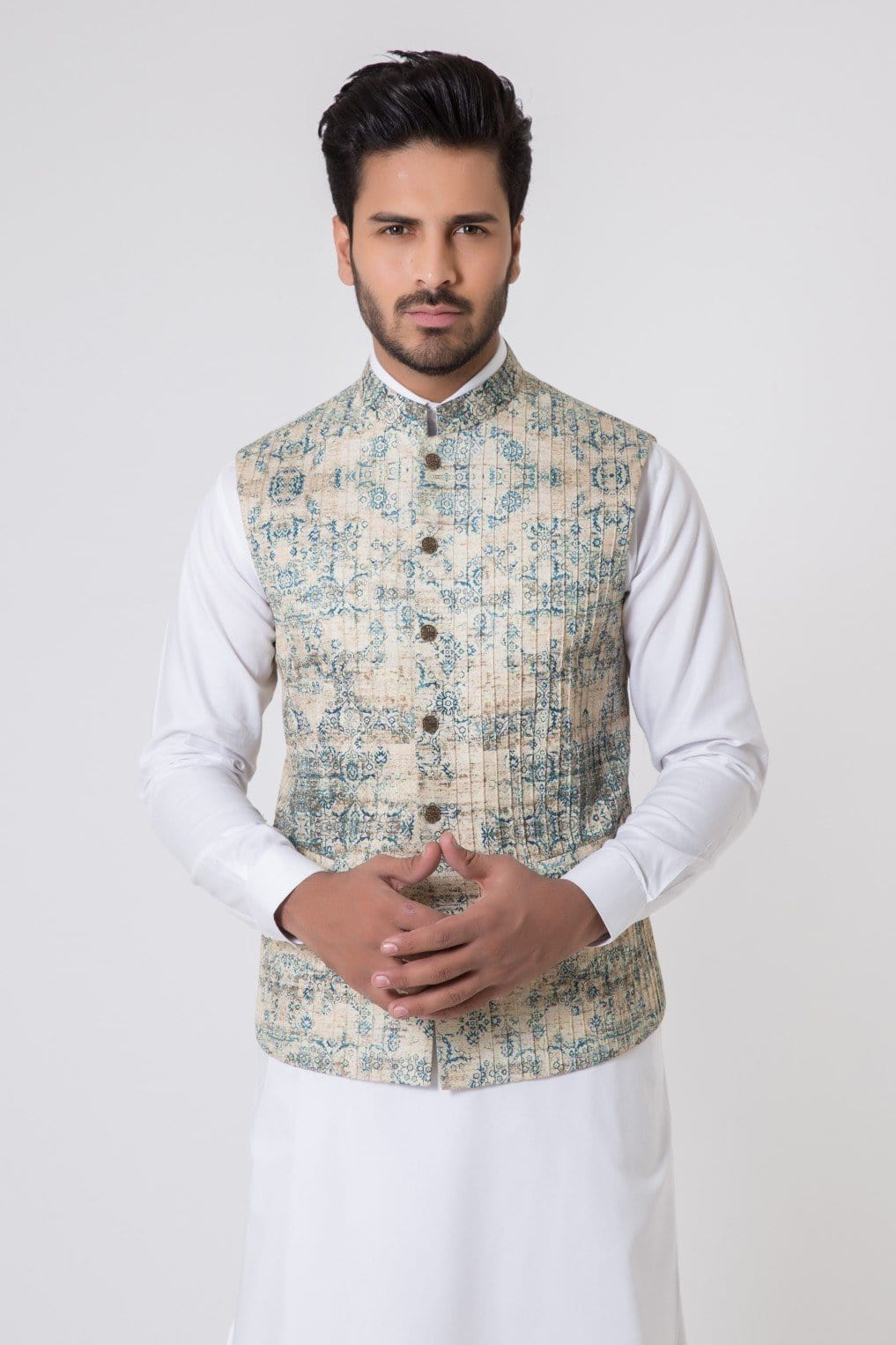 Bonanza Satrangi - Beige Men's Waist Coat