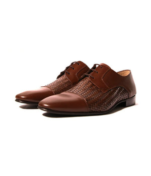 Mochi Cordwainers - Brown Woven Oxfords