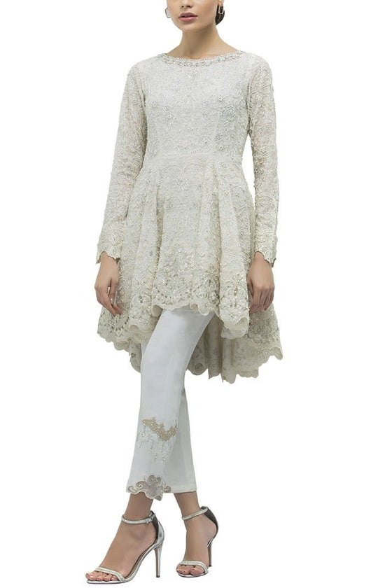 Sania Maskatiya - Chiffon Embroidered Peplum
