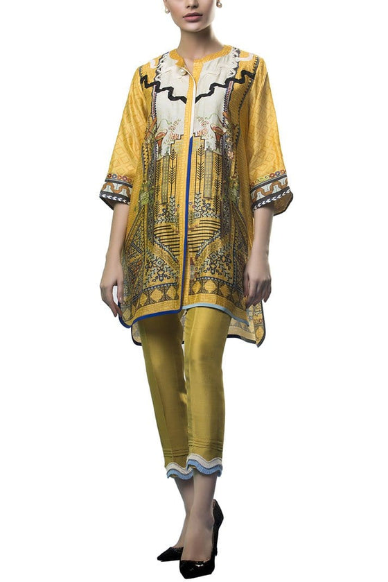 Sania Maskatiya - Cotton Net Digitally Printed Shirt