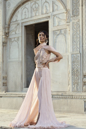 Saleha Kashif - Shaded haulter neck hand outfit