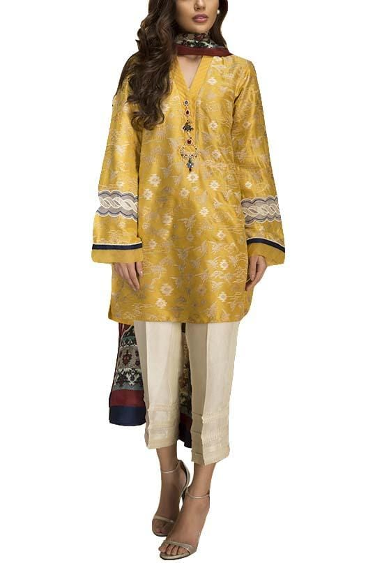 Sania Maskatiya - Raw Silk Embroidered Shirt