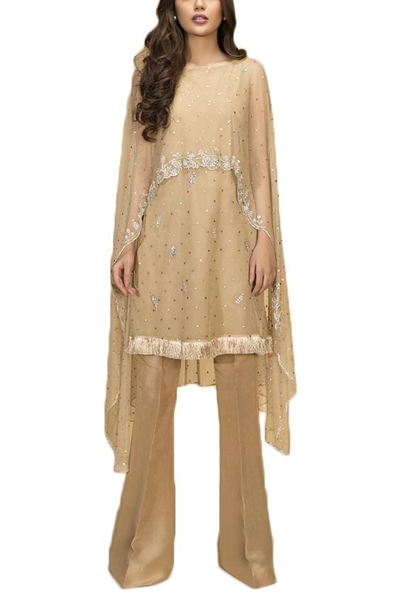 Sania Maskatiya - Indian Net Kamdani Shirt