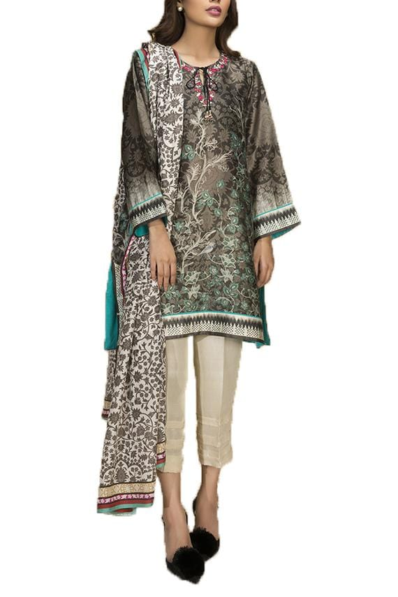 Sania Maskatiya - Cotton Net Digitally Printed Shirt & Dupatta