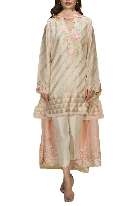 Sania Maskatiya - Cotton Net Woven Shirt