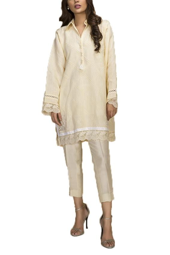Sania Maskatiya - Linen Collared Shirt