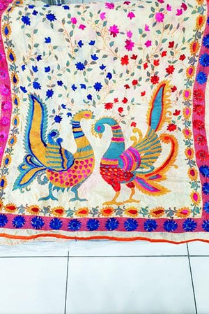 Designs by Amina - Hand Embroidered Dupatta