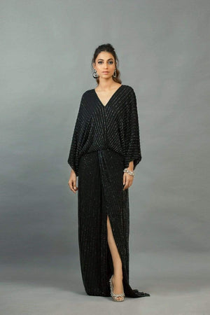 Maheen Karim - Black Chiffon Dress