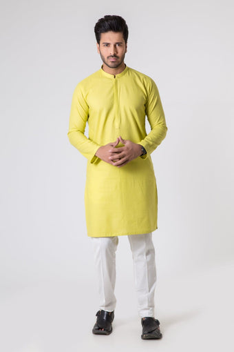 Bonanza Satrangi - Yellow Men's Kurta