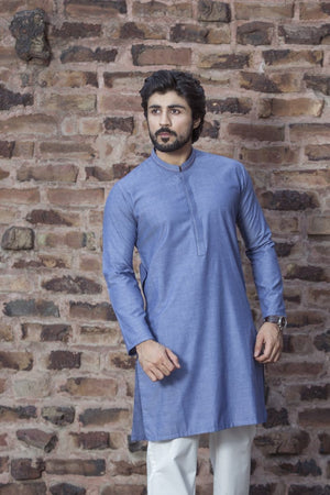 Bonanza Satrangi - Blue Men Kurta - Clearance Sale