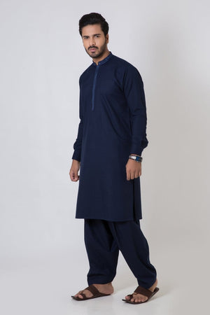Bonanza Satrangi - Navy Blue Men's Kurta Shalwar - Clearance Sale