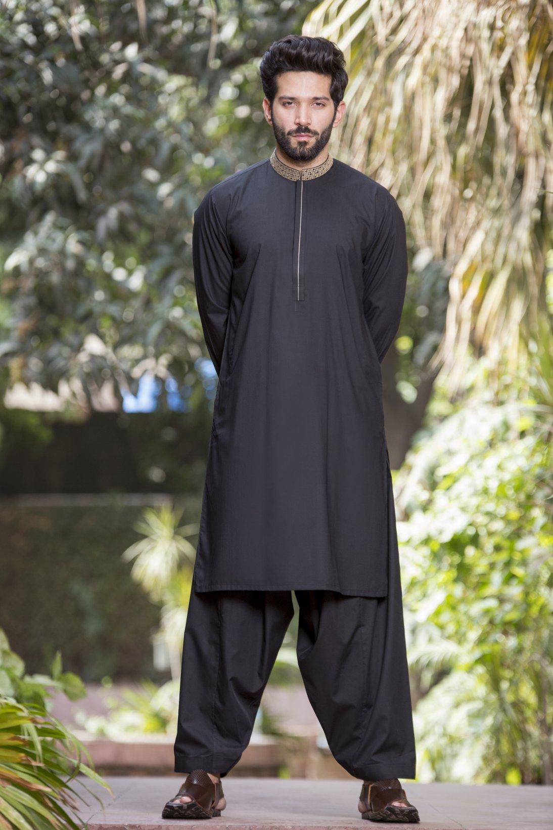 Bonanza Satrangi - Black Men Kurta Shalwar
