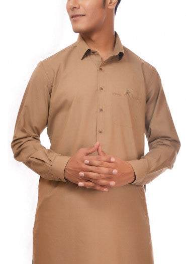 Amir Adnan - Beige Cotton Slim Fit Suit