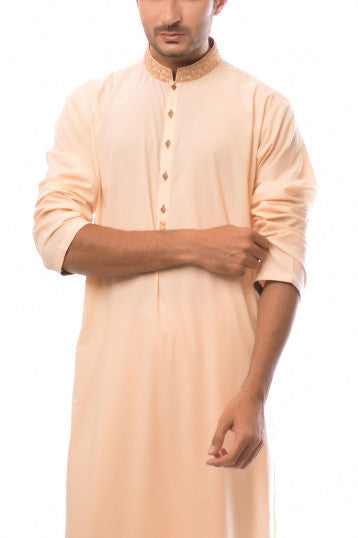 Amir Adnan - Peach Poly Viscose Suit