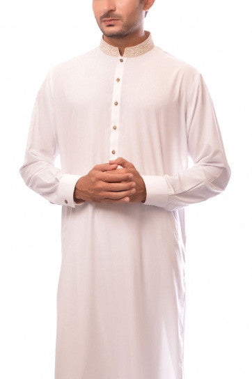 Amir Adnan - White Poly Viscose Suit