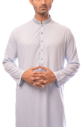 Amir Adnan - Light Blue Poly Viscose Suit