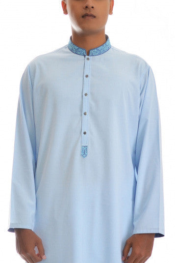Amir Adnan - Sky Blue  Poly Viscose Suit