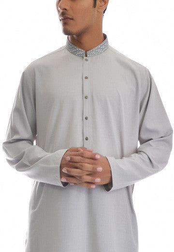 Amir Adnan - Light Grey Poly Viscose Suit