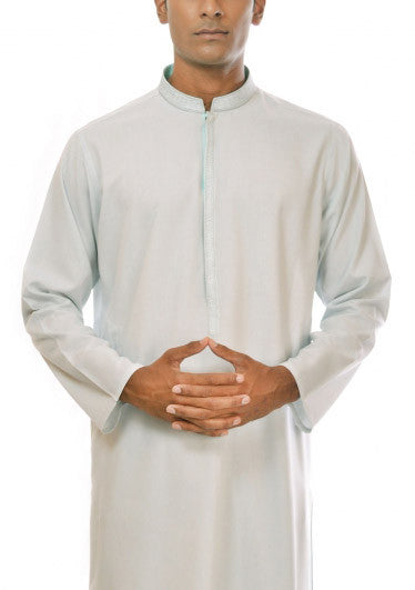 Amir Adnan - Light Blue Poly Viscose Regular Fit Suit