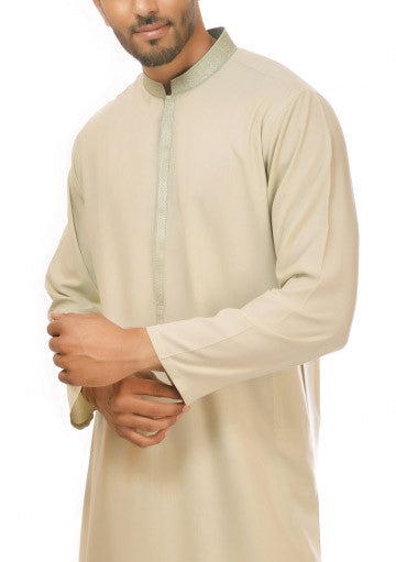 Amir Adnan - Light Green Poly Viscose Regular Fit Suit