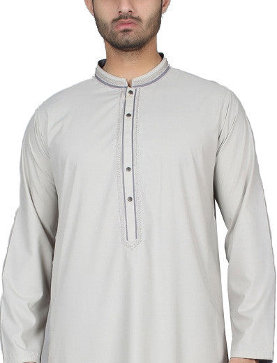Amir Adnan - Grey  Poly Viscose Regular Fit