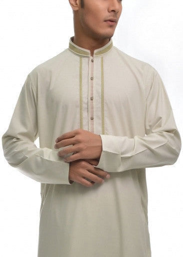Amir Adnan - Light Green Poly Viscose Regular Fit