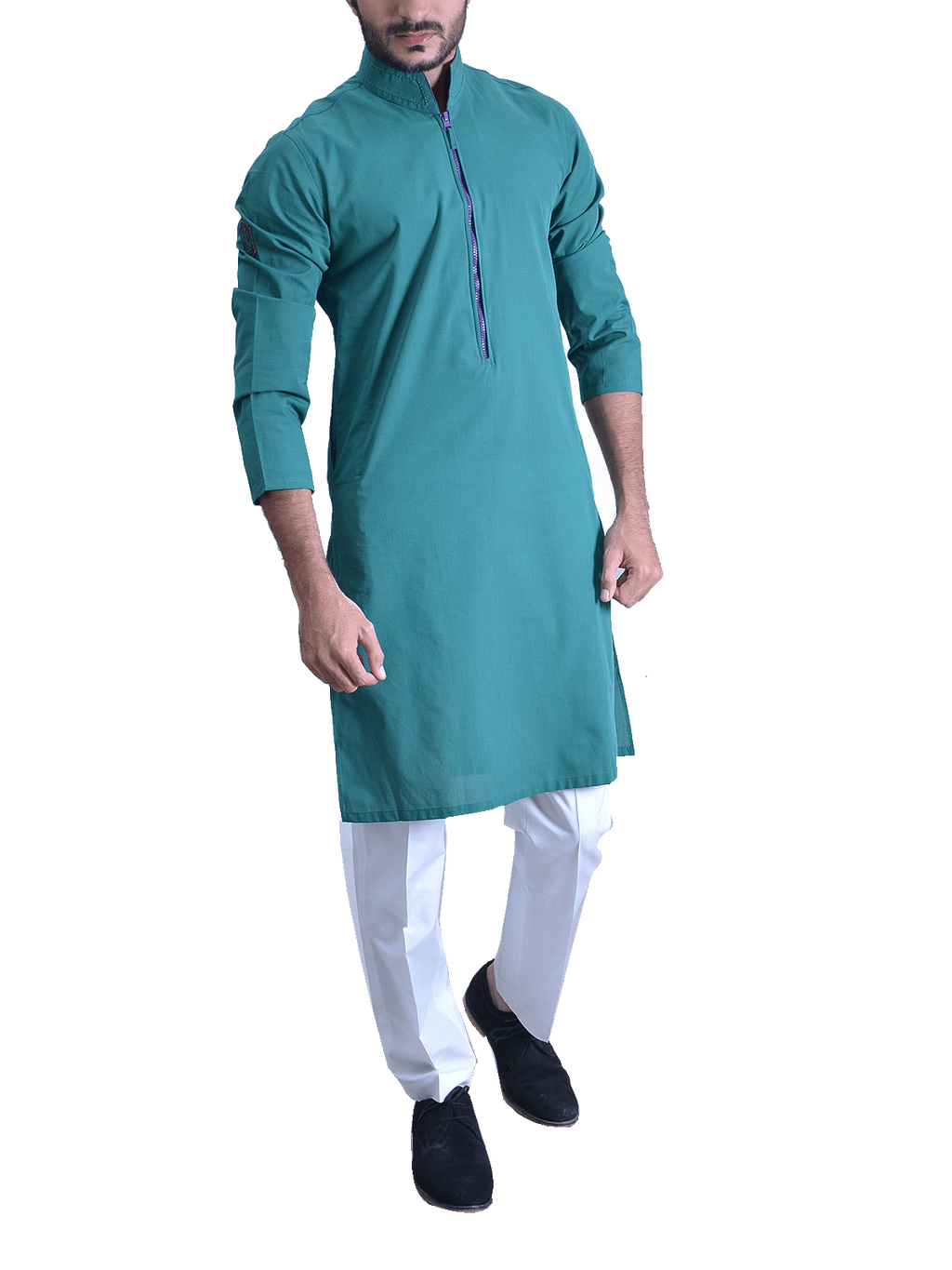 Amir Adnan - Peacock Cotton Kurta