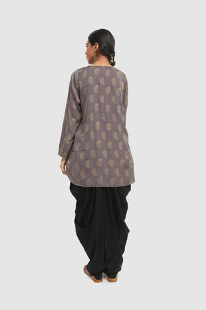 Generation - Grey Sunehri Booti Tunic - 1 PC