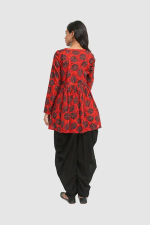 Generation - Maroon Batik Frock - 1 PC