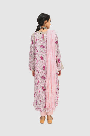 Generation - Pink Bahaary Dusted Pink Suit - 3 PC