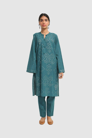 Generation - Green Bhandeej Sequins Embellished - 2 PC