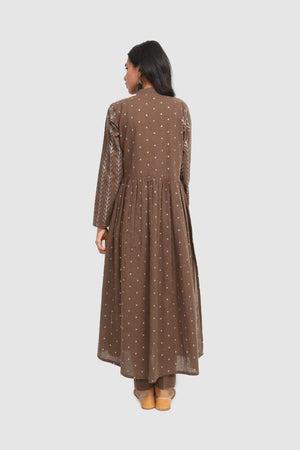 Generation - Brown Bhandeej Sequins Embellsihed - 2 PC