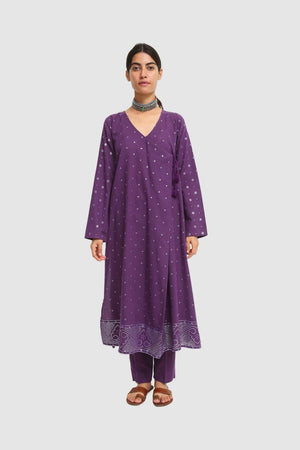 Generation - Purple Bhandeej Angrakha - 2 PC